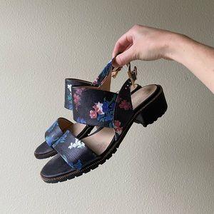 Anthropologie Shoes, heeled sandal open toe